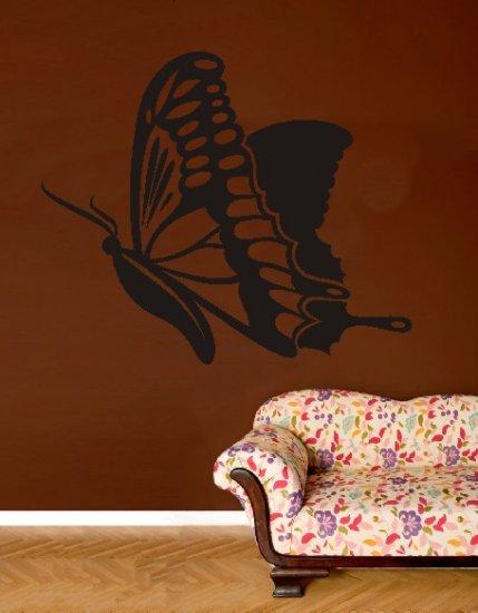 """vinyl wall art butterfly decal (38"""" x 46"""")"""