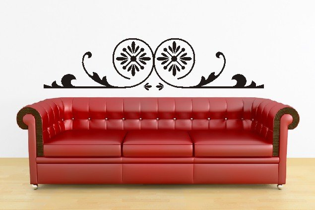 "vinyl wall art ornamental decal (10"" x 45"")"