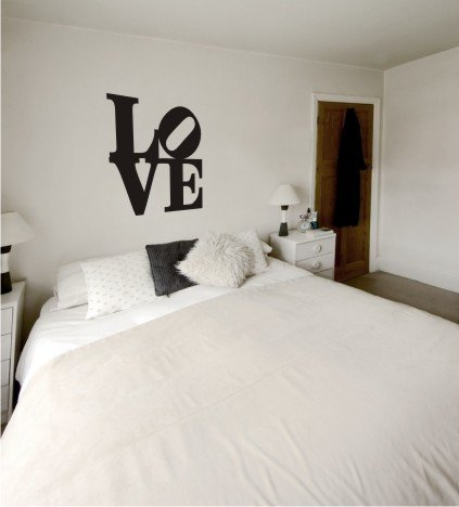 "vinyl wall art LoVE DECAL (20"" x 20"")"
