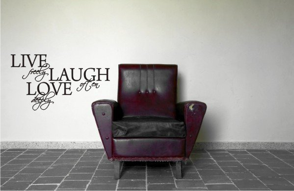 "vinyl wall art decal sticker live love quote (18""x33"")"