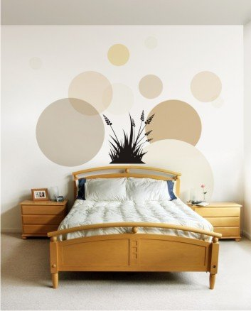 "vinyl wall art decal sticker, grass blades (22"" x 22"")"
