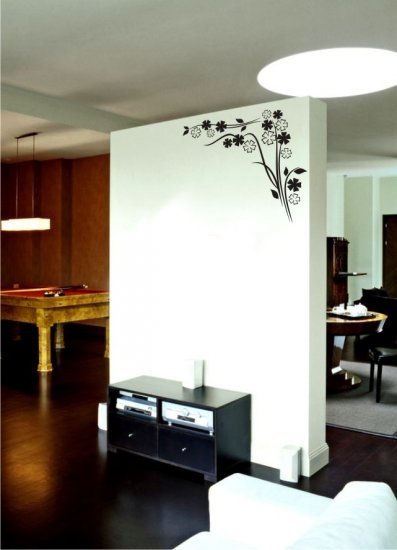 "vinyl wall art decal sticker, corner border (18"" x 30"")"