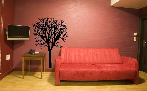 "vinyl wall art decal | tree(23"" x 35"")"
