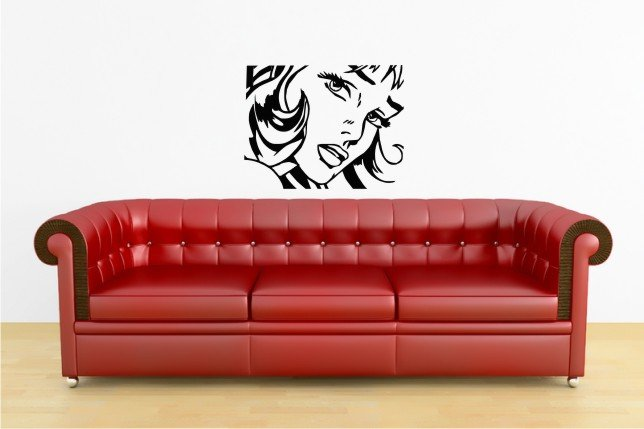 vinyl wall art decal sticker, girl 22 inches x 29 inches