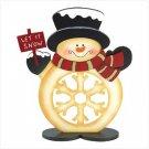 Cheerful Snowman Figure