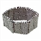 Zebra-Striped Cuff Bracelet