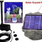 Solar Panel Rock w pump fountain
