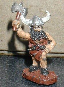 GRENADIER Barbarian with axe Dungeon Explorer D&D figure