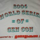 RPG gaming gray T-shirt  World Series of GenCon 2004 / NEW size XL