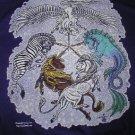 RPG gaming fantasy Windwolf purple T-shirt flying unicorn design / size XL