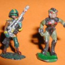Garrison Heritage ? x2 Star Troopers vintage space minis / Gamma World