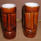 x2 DAGA Hawaii Dark brown Tiki Mugs / EASTER ISLAND 6""