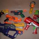 x7 RANDOM lot of Nerf Dart Tag guns + upgrades