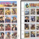 x2 uncirculated sheets CIVIL WAR 32¢ & LEGENDS OF THE WEST 29¢ stamps