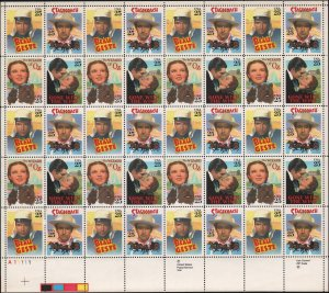 Uncirculated sheet #2445-2448 25¢ 40 stamps Classic Films Wizard of Oz +