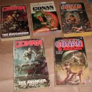x5 vintage Conan books Lancer Frazetta Duillo covers