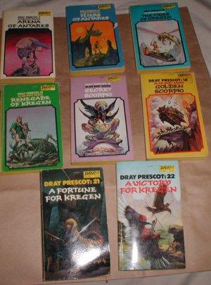 x8 1970s Dray Prescot Alan Burt Akers books Antares Kregen Scorpio