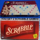 x2 Scrabble basic board games / double wooden letter pieces