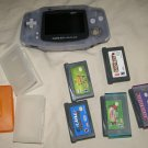 Nintendo Gameboy Advance Glacier system w/5 games