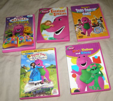 x6 Barney the Purple Dinosaur DVD movies