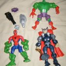 Superhero Mashers combiner action figure toys Thor Spiderman Hulk parts