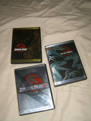 JURASSIC PARK x3 DVD lot Lost World JPIII and JP