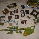 Mega Bloks Krystal Wars Marauders Cliff dragon & parts lot