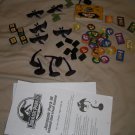 Jurassic Park Island Survival Game parts dice dinosaurs cards instructions