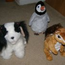FurReal Friends baby Chipmunk Penguin and puppy