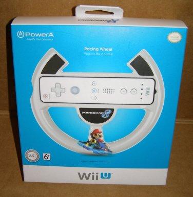 Power-A Wii U Controller Mario Kart 8 Racing Wheel NEW