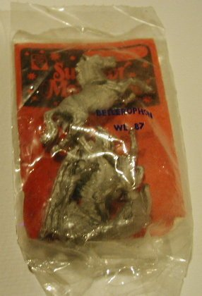 Superior Models Belerophon WL87 / greek warrior on pegasus NIP 1980