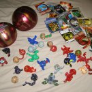 BAKUGAN BAKUSPHERE with 28 cards and 25 brawler balls magnetic FUN LOT!