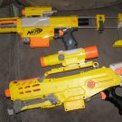 Nerf gun lot Longshot + Recon + scopes and clips