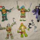 "TMNT Ninja Turtles X5 action figures 4"" scale poseable"