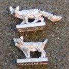 Ral Partha 25mm fox miniatures wilderness animals figures pewter