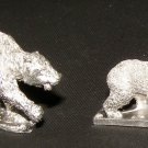Ral Partha 25mm Bear miniatures wilderness animals figures pewter