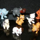 plastic Chinasaur Hong Kong play animal lot x10 gorilla hippo lion tiger bear