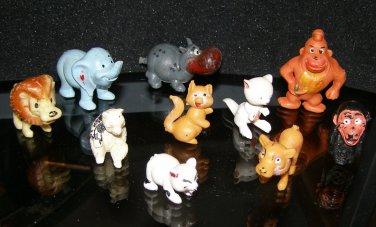 plastic Chinasaur Hong Kong play animal lot x10 gorilla hippo lion tiger bear