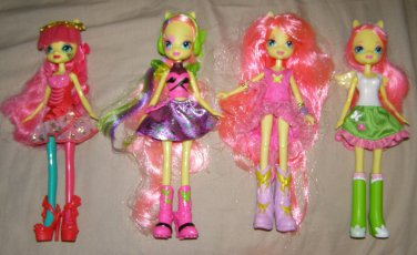 MY LITTLE PONY EQUESTRIA GIRLS Collection x4 doll lot Rainbow Rocks