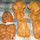 Halloween Costume - Fantastic 4 Thing Hands & feet + mask and chest set!