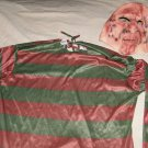 A Nightmare on Elm Street Freddy Krueger Halloween Costume shirt and mask