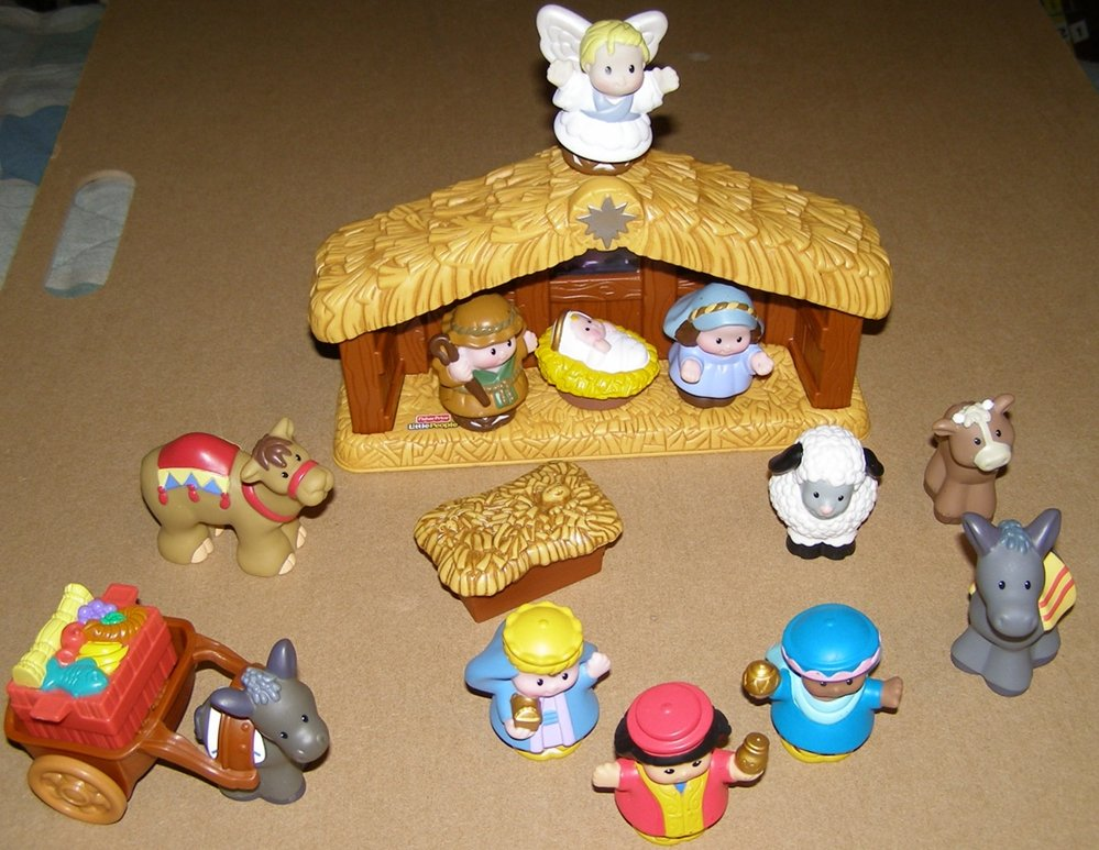 Fisher Price Little People Nativity Scene Figure Set Christmas