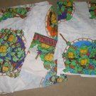 Vtg TMNT Ninja Turtles Twin Sheet set 1990 Mirage GC