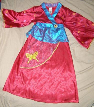 Disney Store MULAN kimono dress costume size 6x