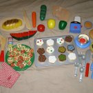 Play Food Melissa Doug Pottery Barn Fruit Vegetables pizza cookies misc wooden