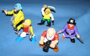 Fisher Price Great Adventures pirtate figures x5