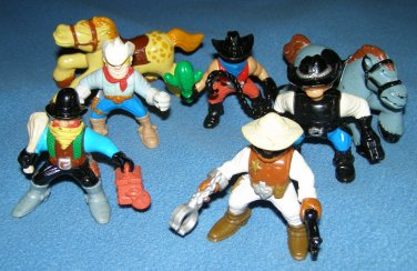 Fisher Price Great Adventures cowboys and horses