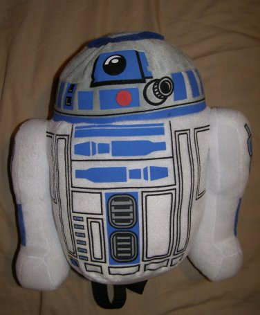 """Star Wars R2D2 droid Soft Plush backpack 12"""""""