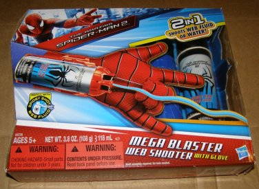 Marvel Spiderman Web shooter Mega blaster playset LN + extra web
