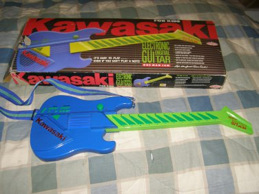 Kawasaki kids electric guitar by Remco vtg in box musical toy